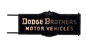 Vintage Dodge Brothers Sign