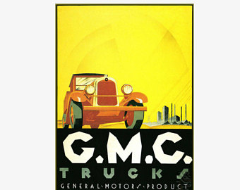 Vintage GMC truck advertising