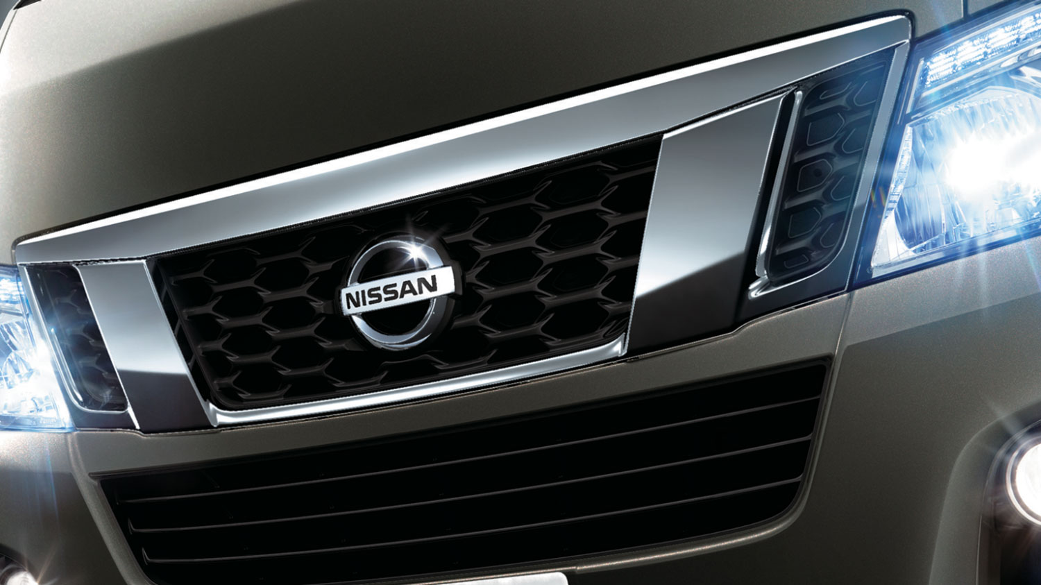 Nissan grill and logo