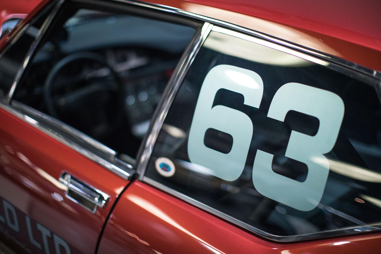 Citroën SM race number detail