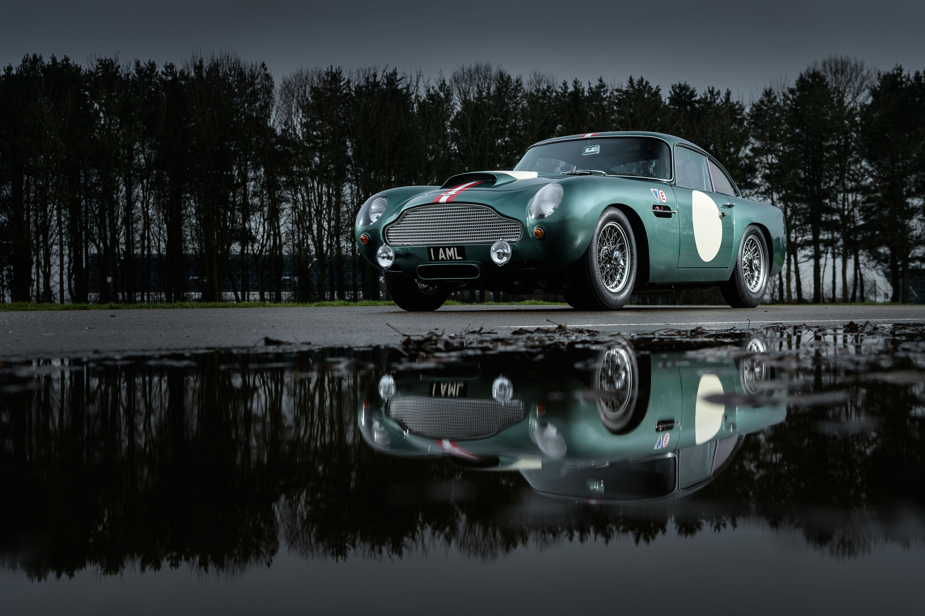Aston Martin DB4 GT reflection