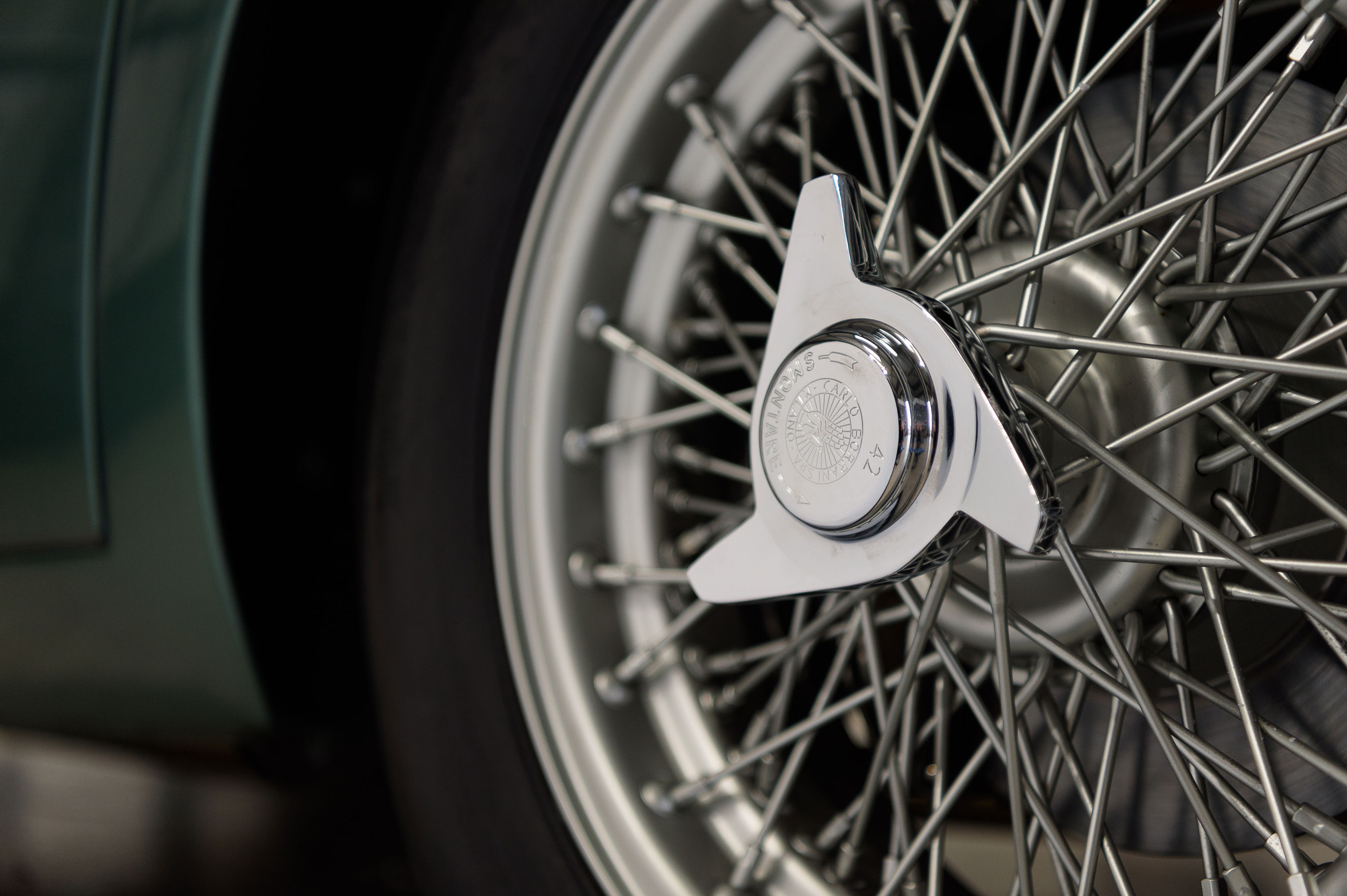 1959 Aston Martin DB4 GT wheel detail