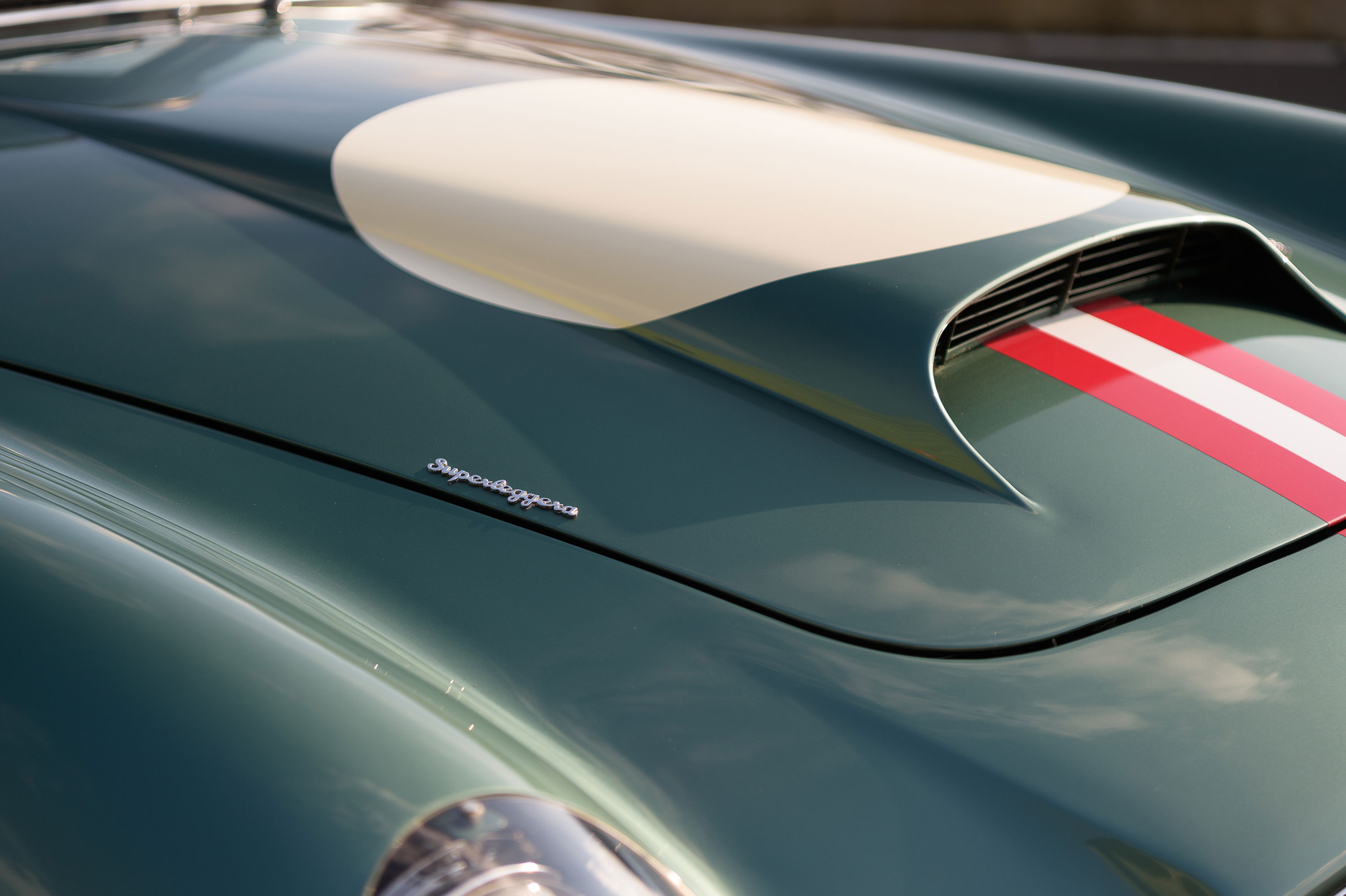 1959 Aston Martin DB4 GT hood scoop detail