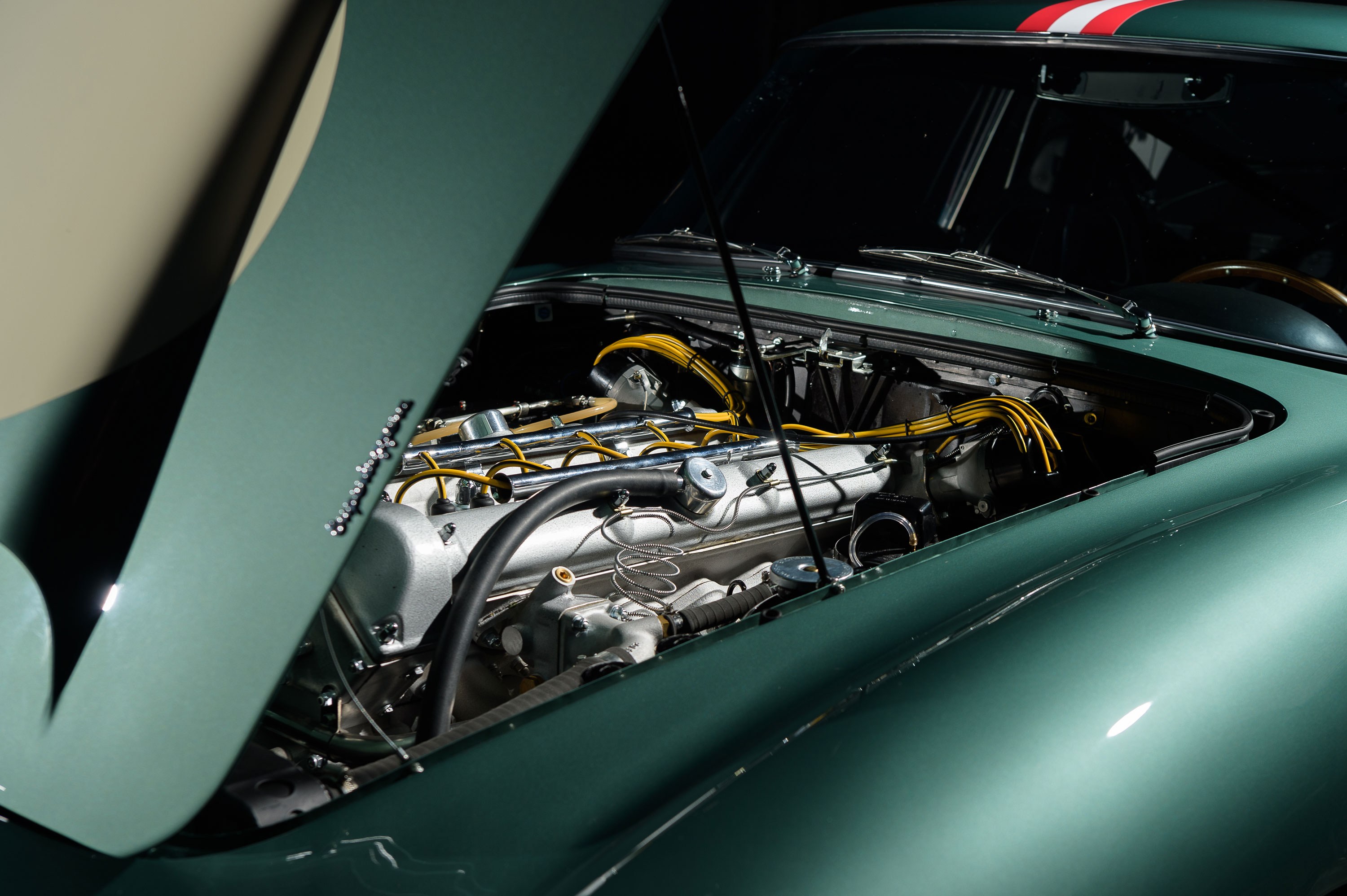 1959 Aston Martin DB4 GT hood up engine