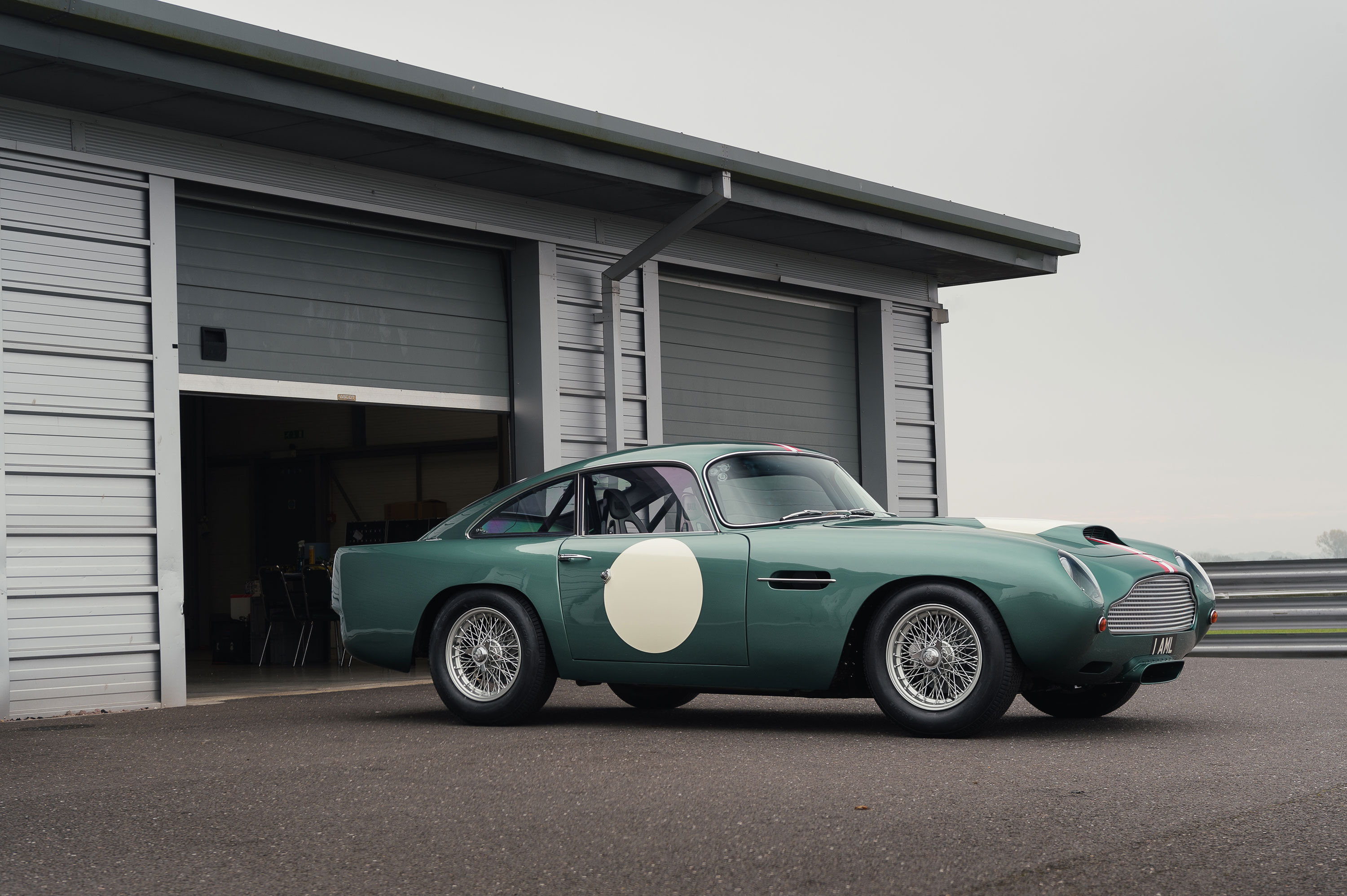 1959 Aston Martin DB4 GT at the garage