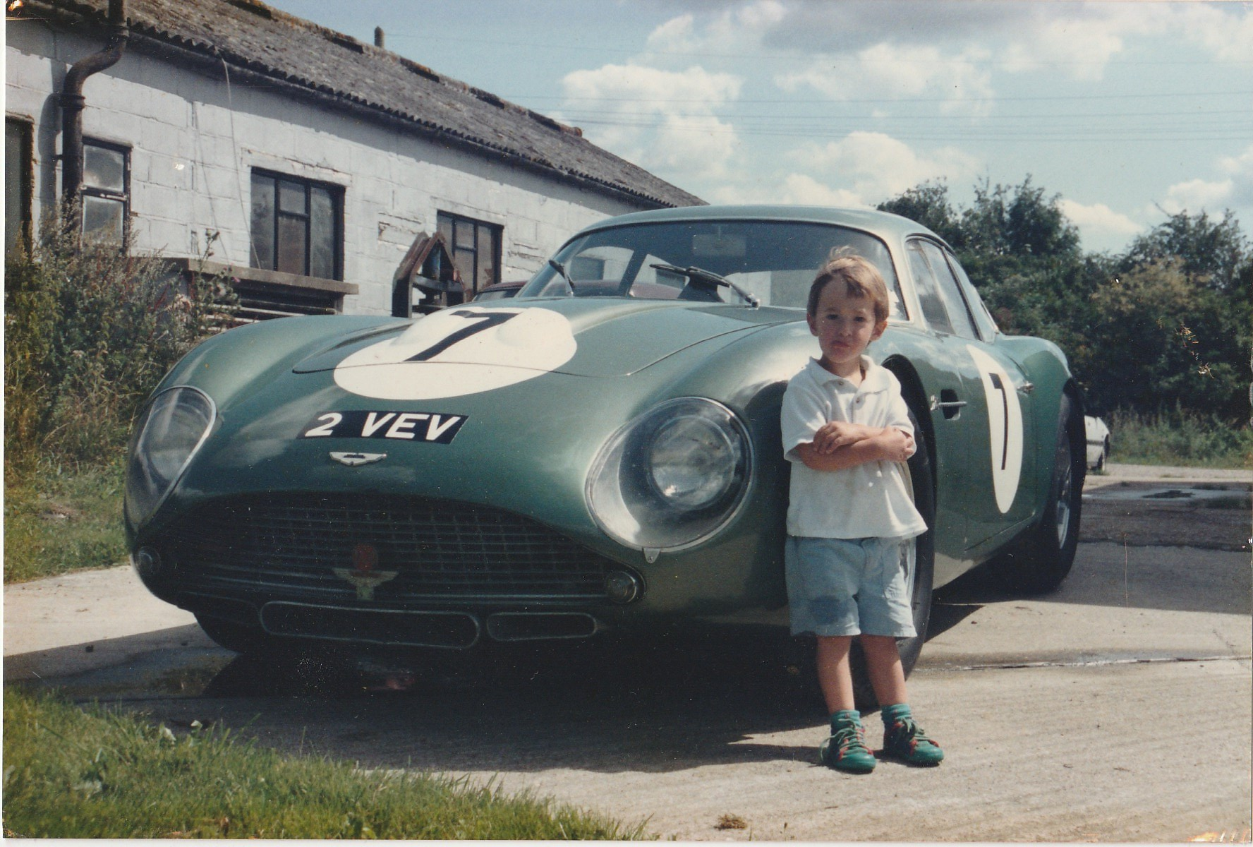 Andrew English's son with the Aston Martin DB4GT 2VEV