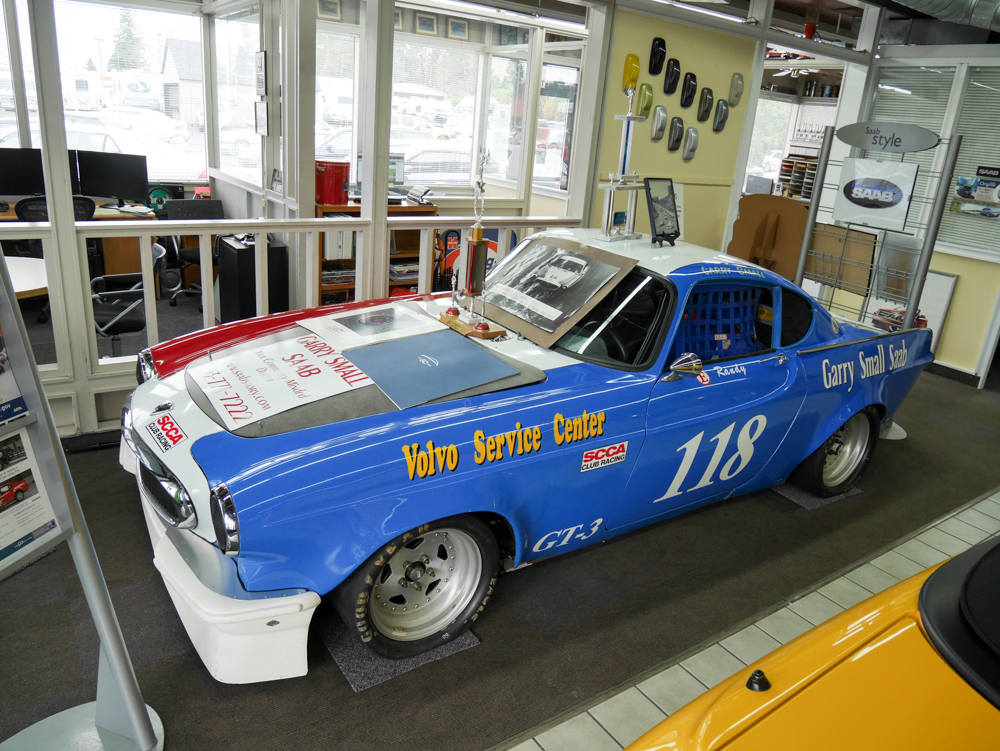 Small raced this Volvo P1800 from 1970 to 1982, twice coming close to SCCA F production national championships.