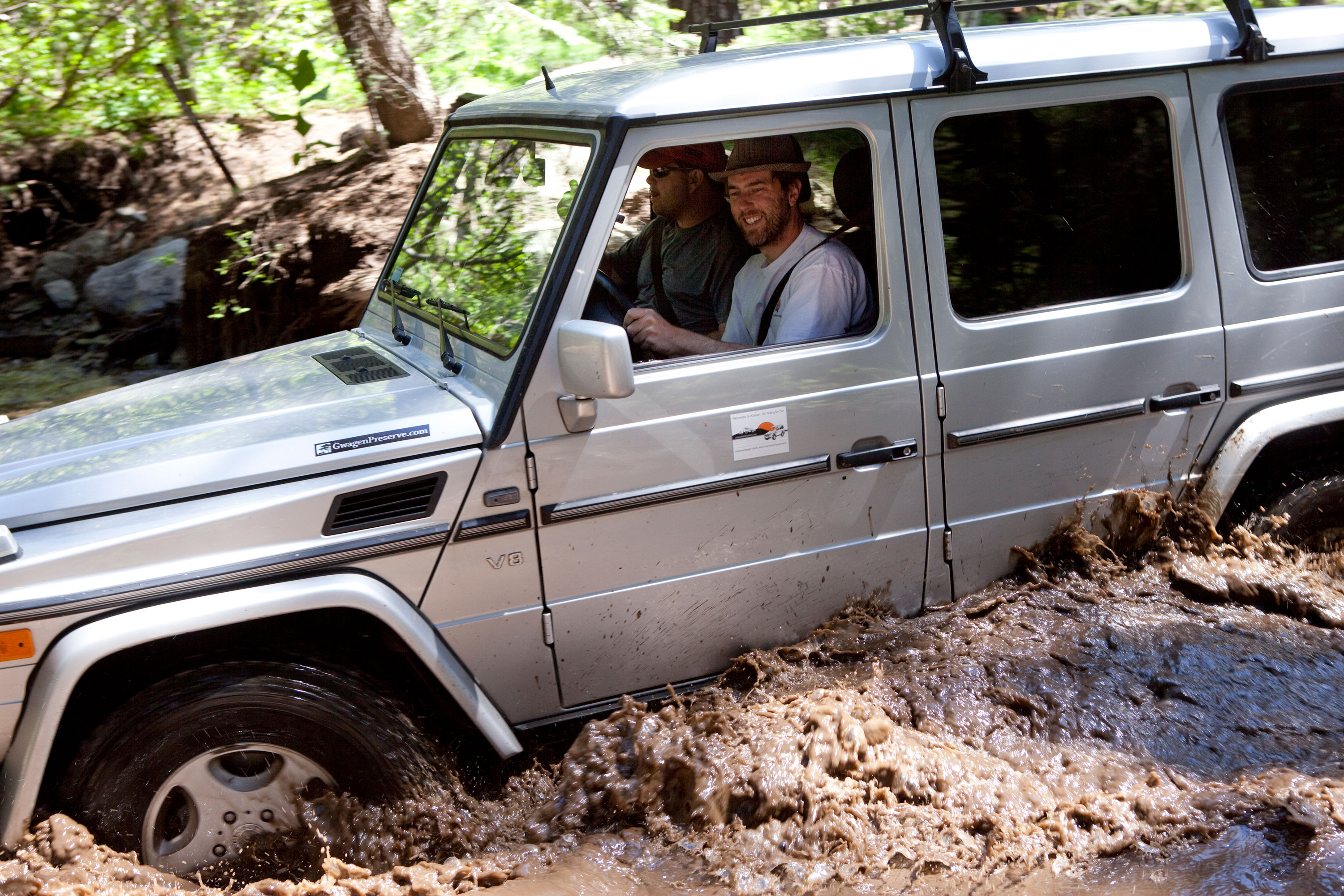 A 2002 G500 has no problem with water crossings.