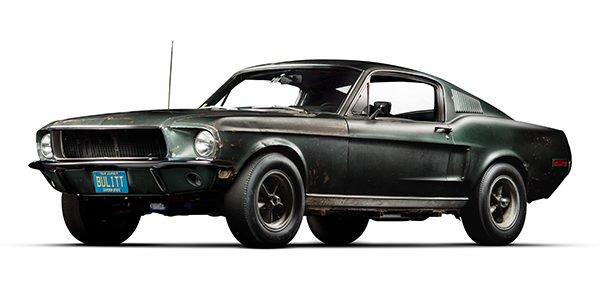 1968 Ford mustang Fastback Bullitt front left hand corner