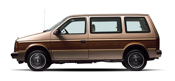 1984 Plymouth Voyager Mini Van left hand side view