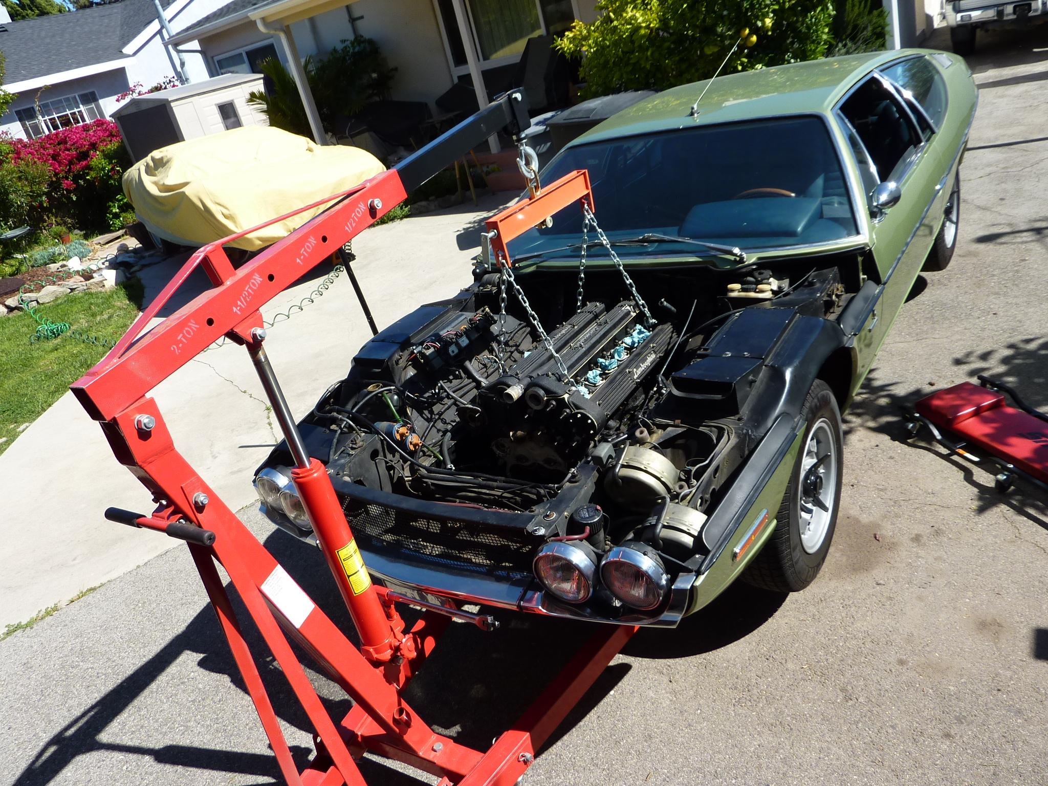 1970 Lamborghini Espada engine work