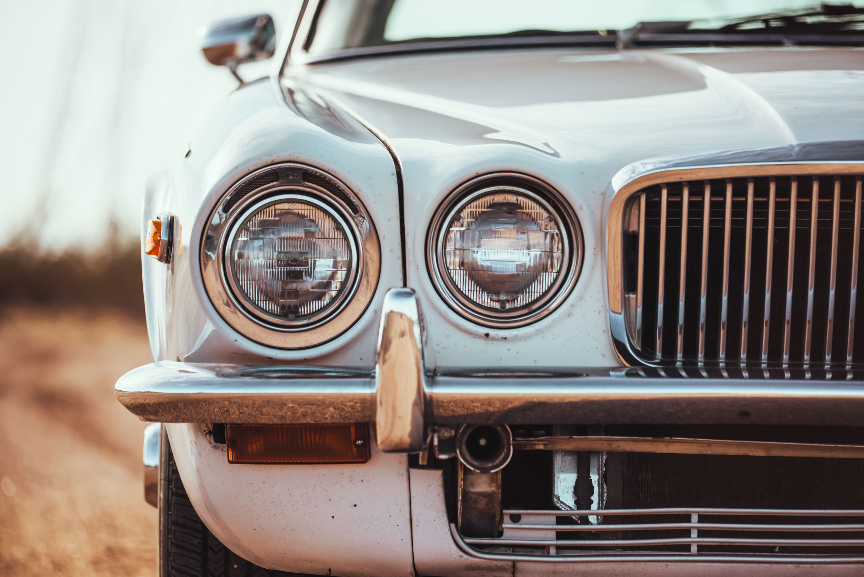 1974 Jaguar XJ6 headlight detail