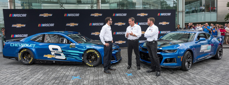 2018 Chevrolet Camaro ZL1 NASCAR cup race car unveiling