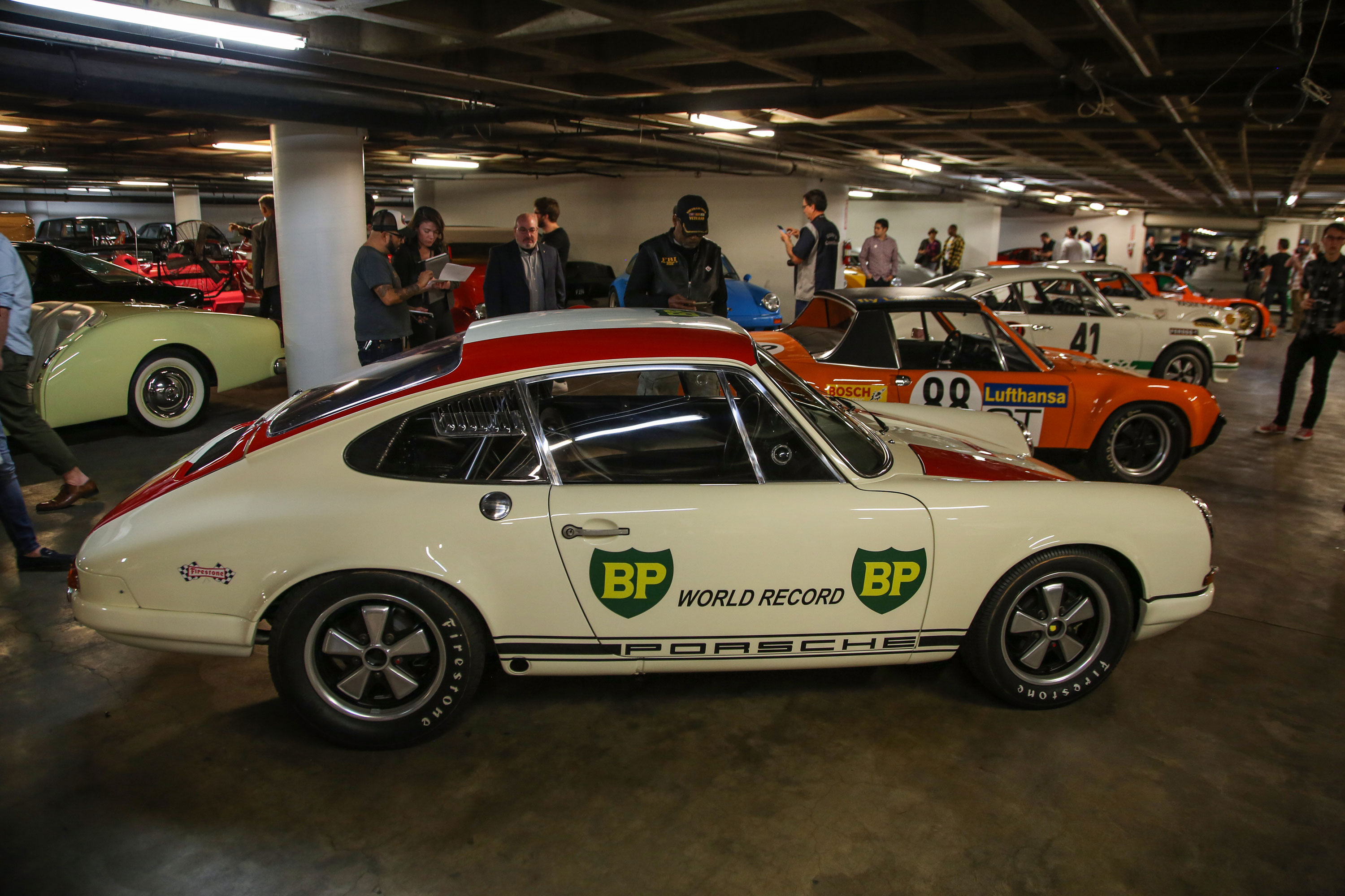The Petersen's vault is also available to tour and holds more than a dozen additional, noteworthy Porsches, including this 911R that set numerous endurance records at Monza.
