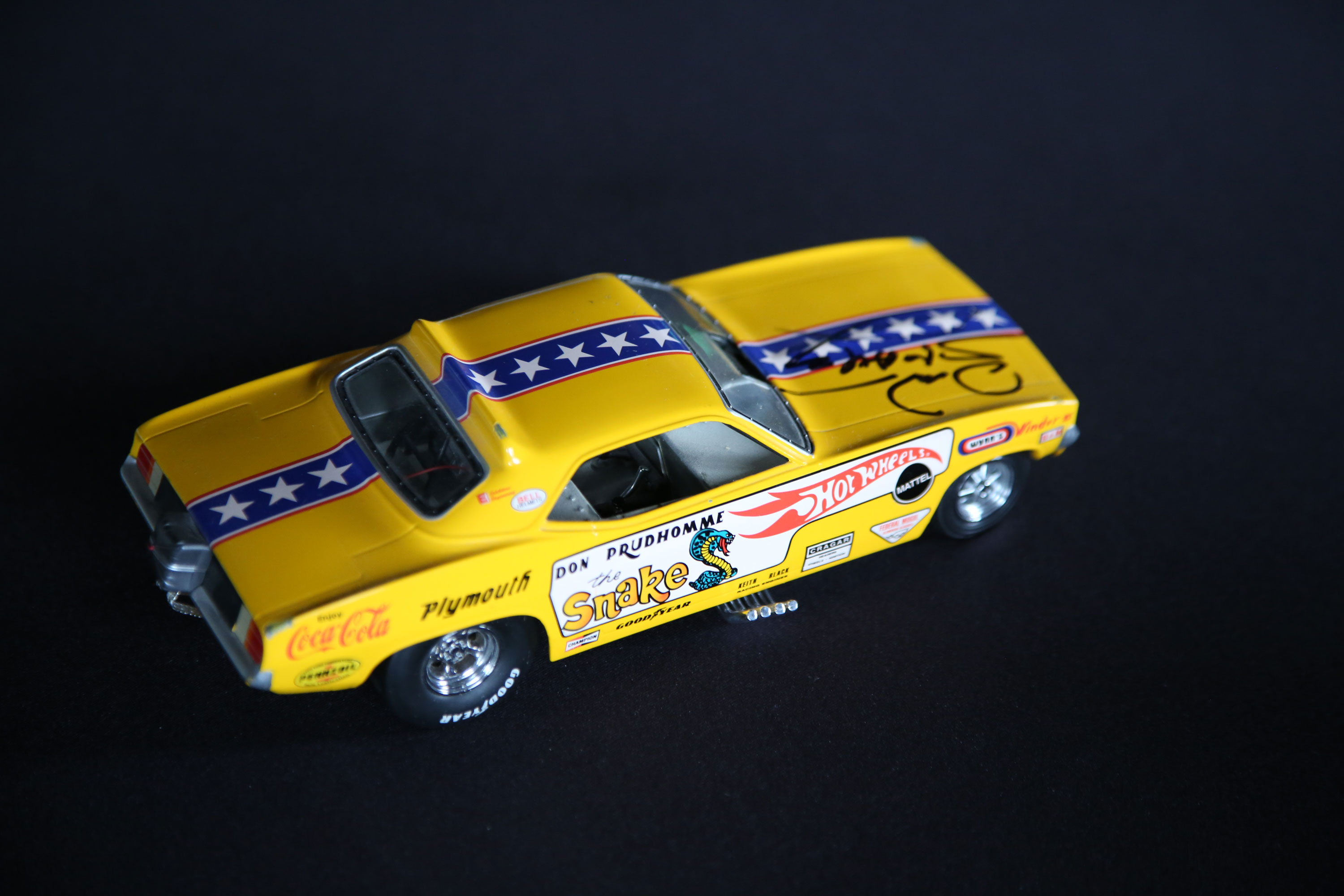 The model that made it happen. The 1970 Mattel Hot Wheels sponsorship of the Snake and Mongoose Funny Cars changed the sport of drag racing forever, moving it from grassroots with small industry sponsors to a major league, big-money, national sport.