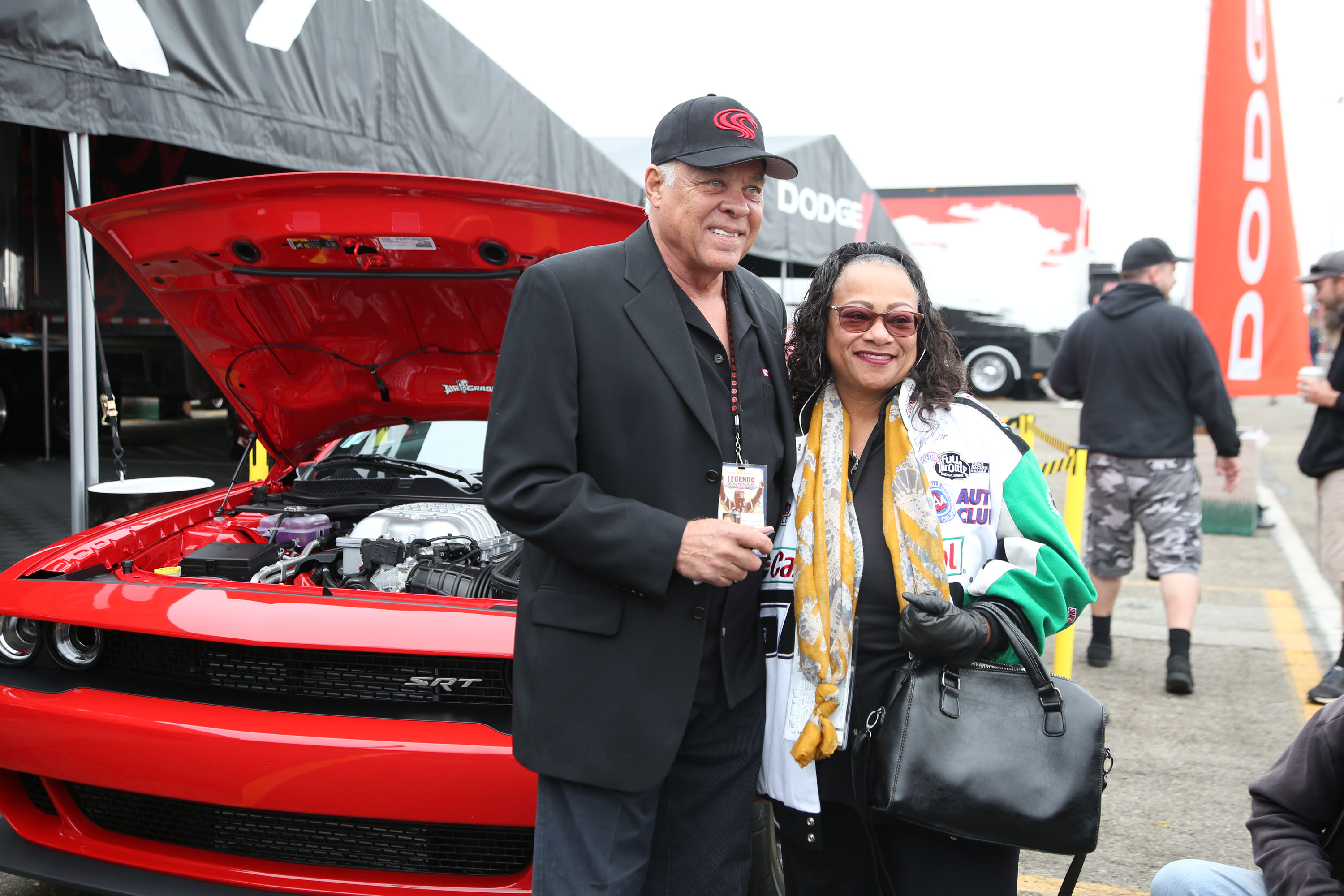 The day before the races, Prudhomme took ownership of a 2018 Dodge Demon and, never one to miss a marketing opportunity, offered to park it in the Dodge display for the event.