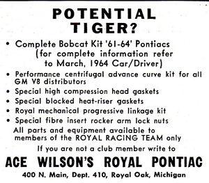 Royal Pontiac bobcat ad