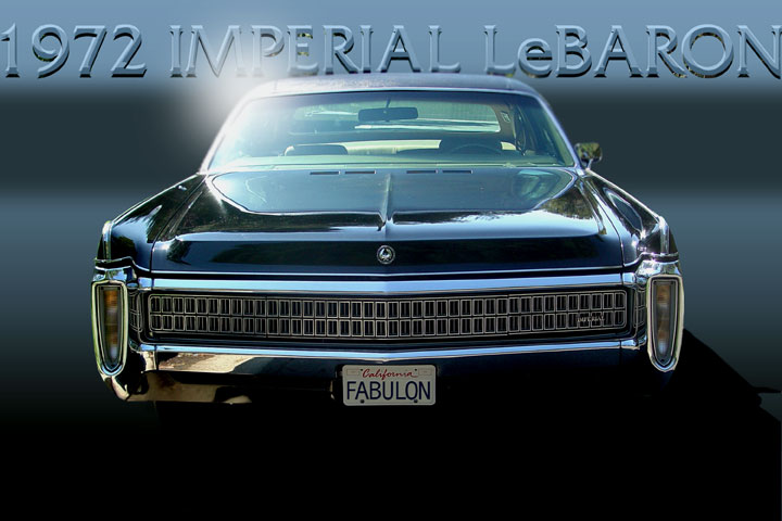 The hidden-headlight grille and peaked fenders are among Meads favorite design features of the Imperial.