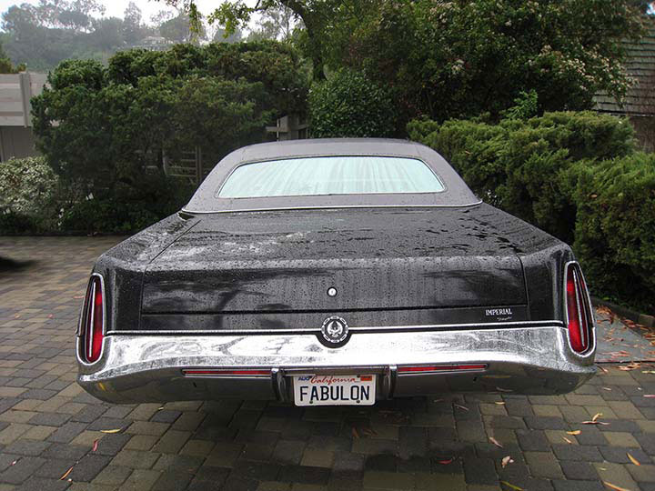 The '72 Imperial design debuted for 1969. It's 19.5 feet long, 6.5 feet wide and weights 5,000 pounds.