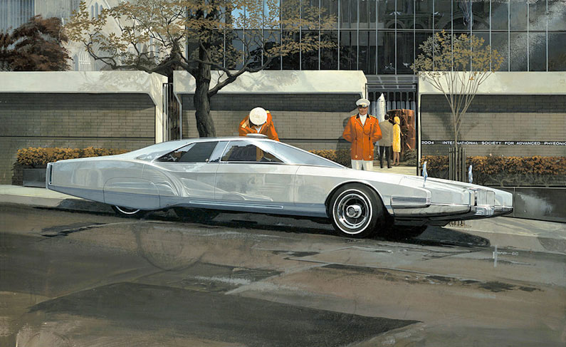 Syd Mead's 1967 vision of a future Rolls-Royce.