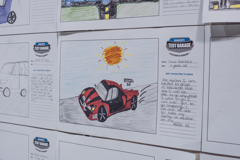 Alexa Ramirez's Ferrari drawing
