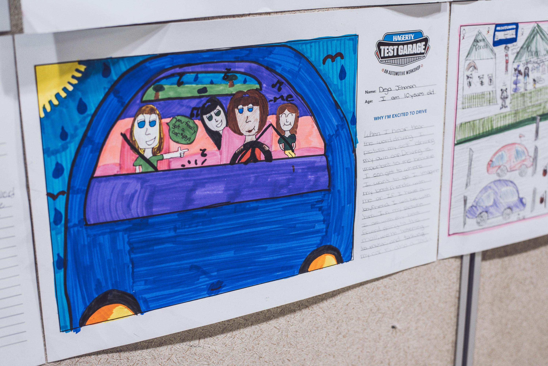 Deja Johnson's Hagerty Test Garage drawing