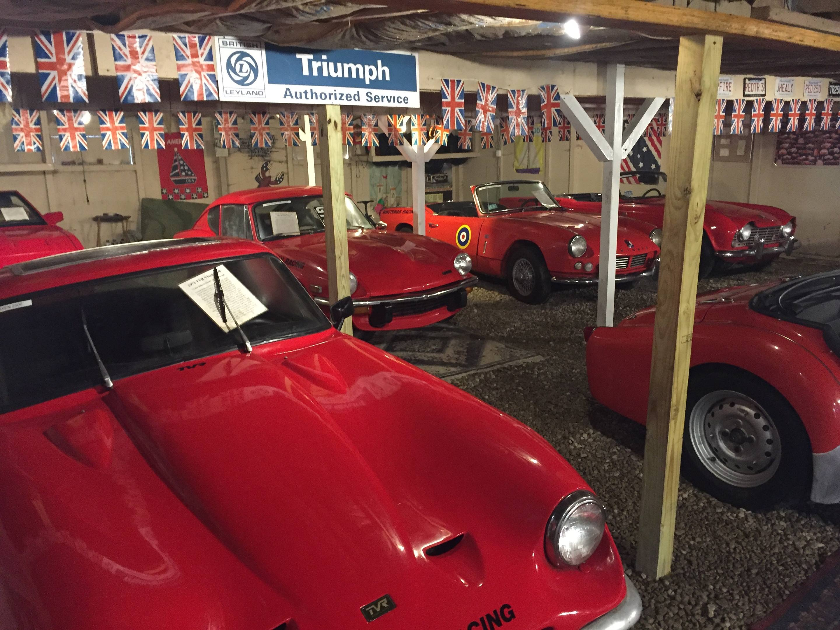 All the cars in the Toad Hall collection are red.