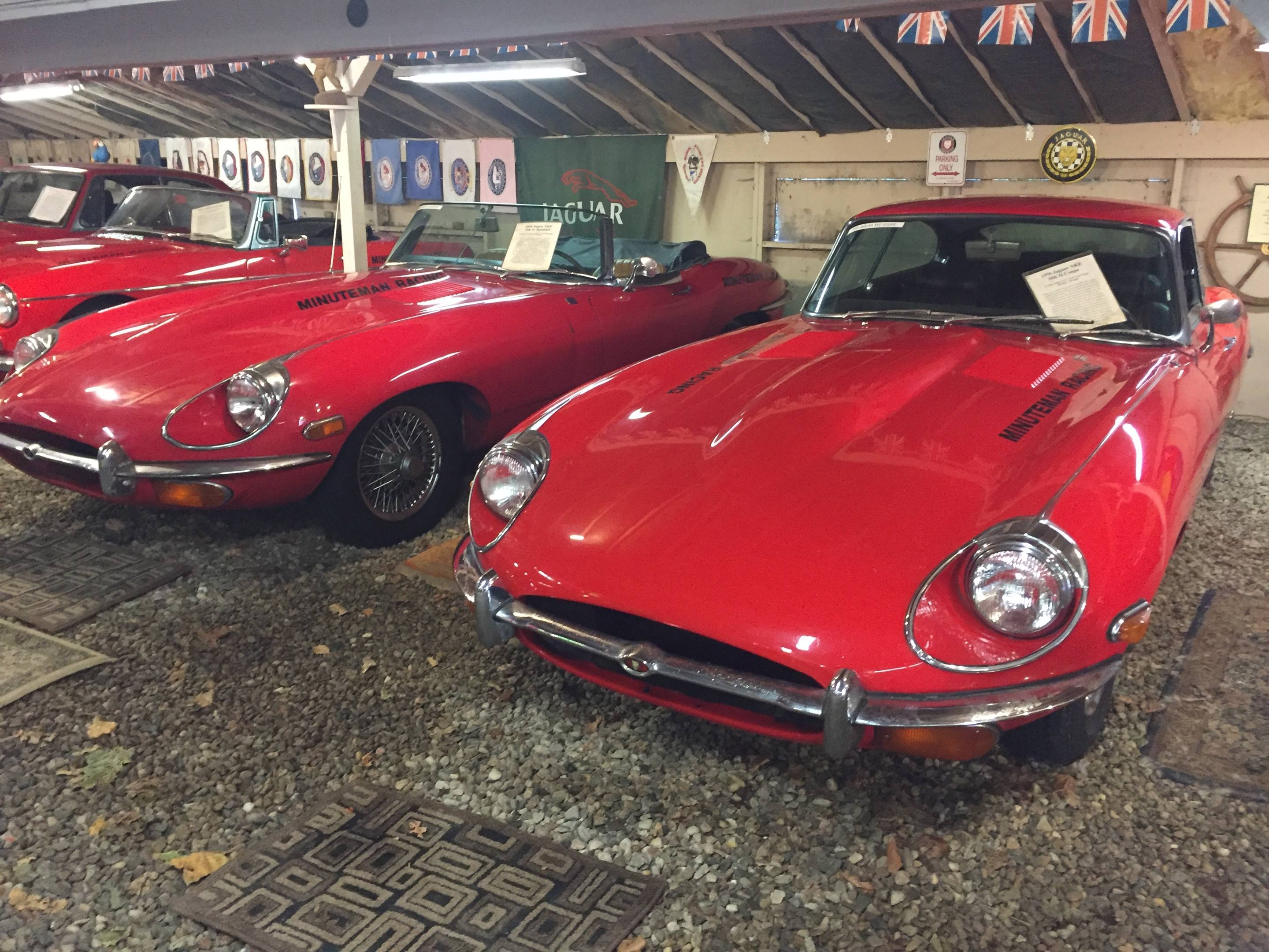 Jaguar E-Types in the Toad Hall collection