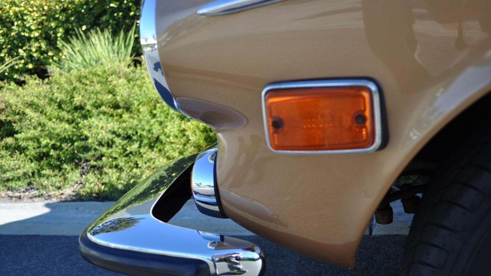 1973 Volvo 1800ES wagon front bumper detail