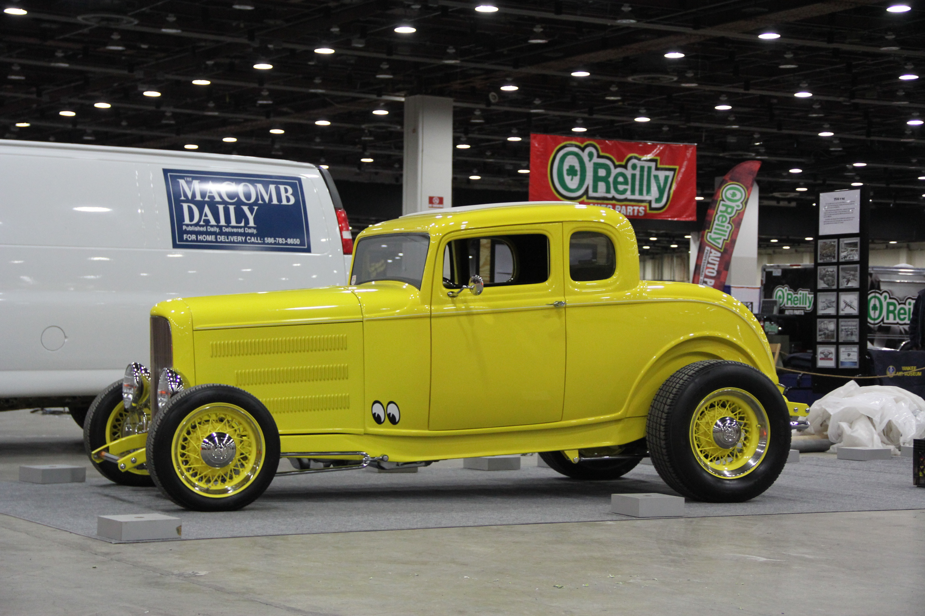 yellow 1932 Ford Deuce