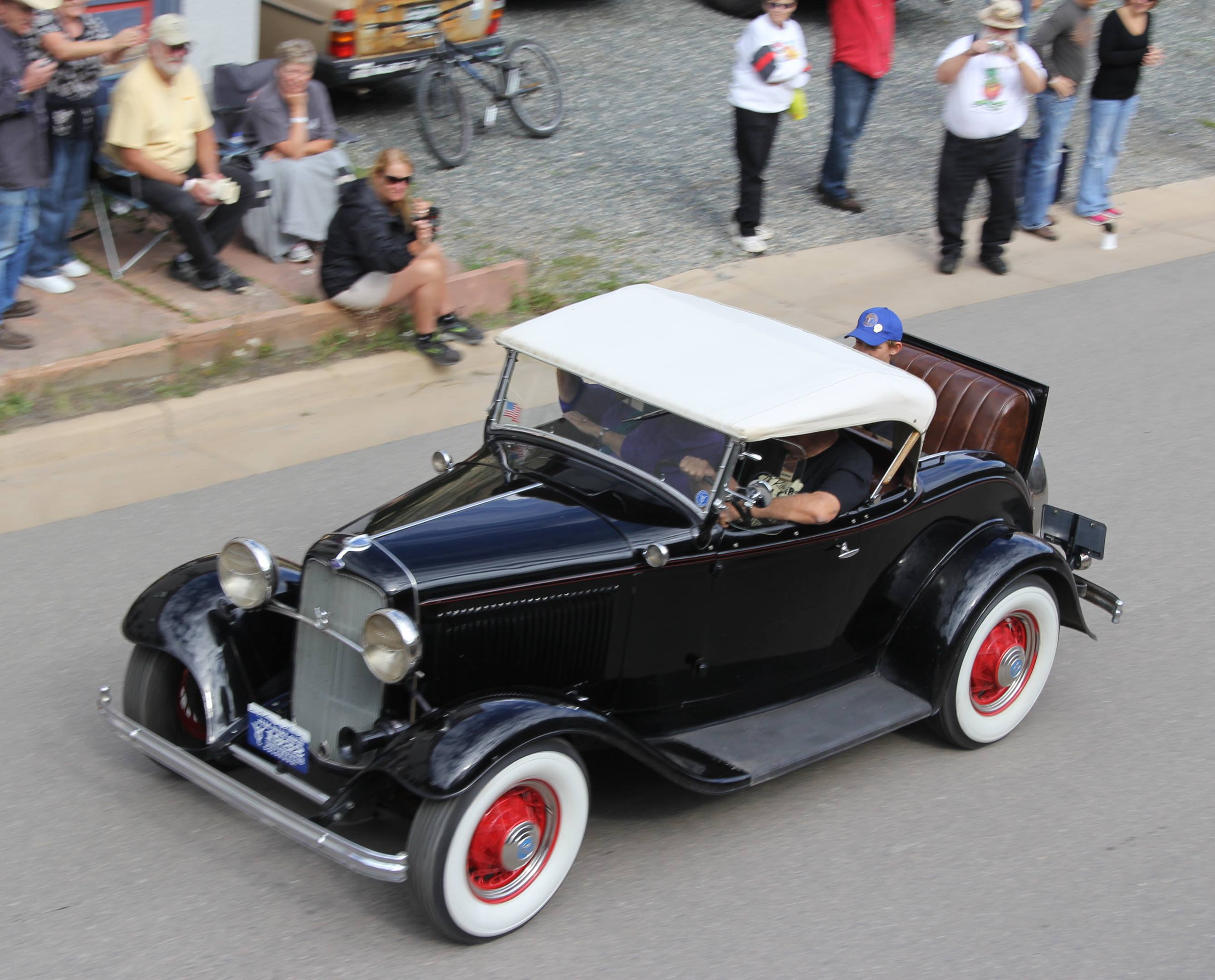 1932 Ford Deuce coupe with a rumble seat