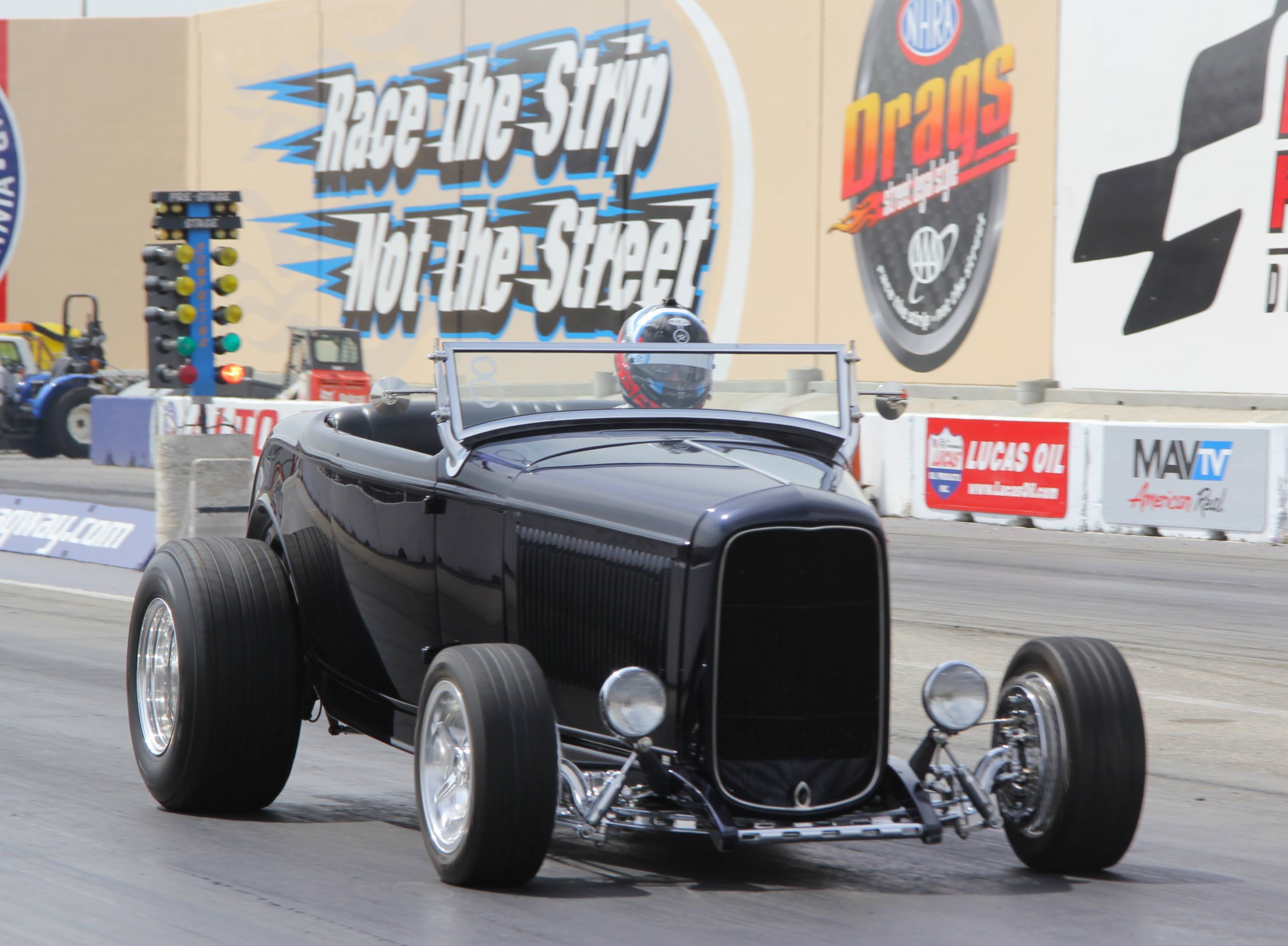 1932 Ford Deuce at the dragstrip