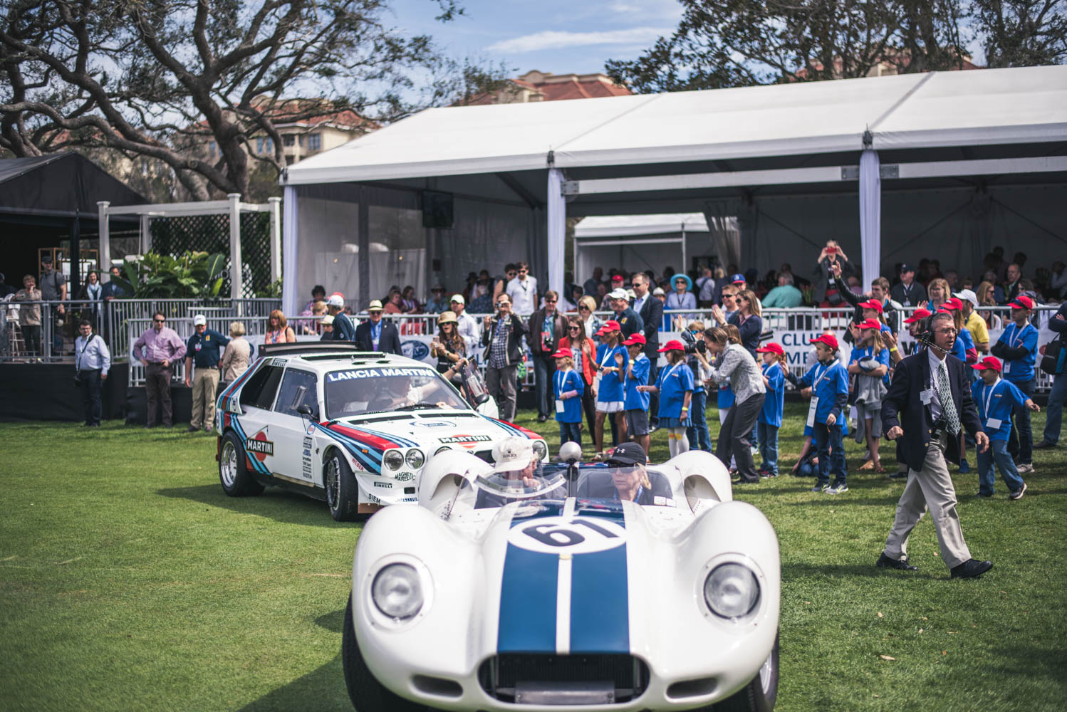 Hagerty Youth Judging 1959 Lister-Jaguar and 1985 Lancia