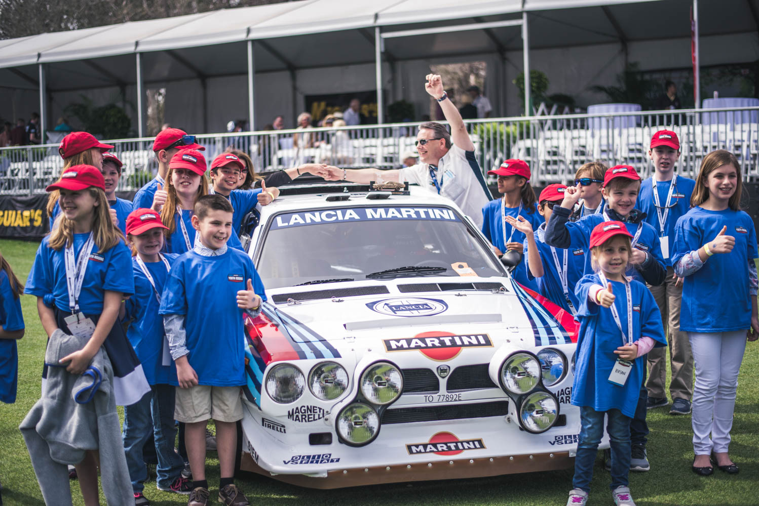 Youth Judges with a 1985 Lancia