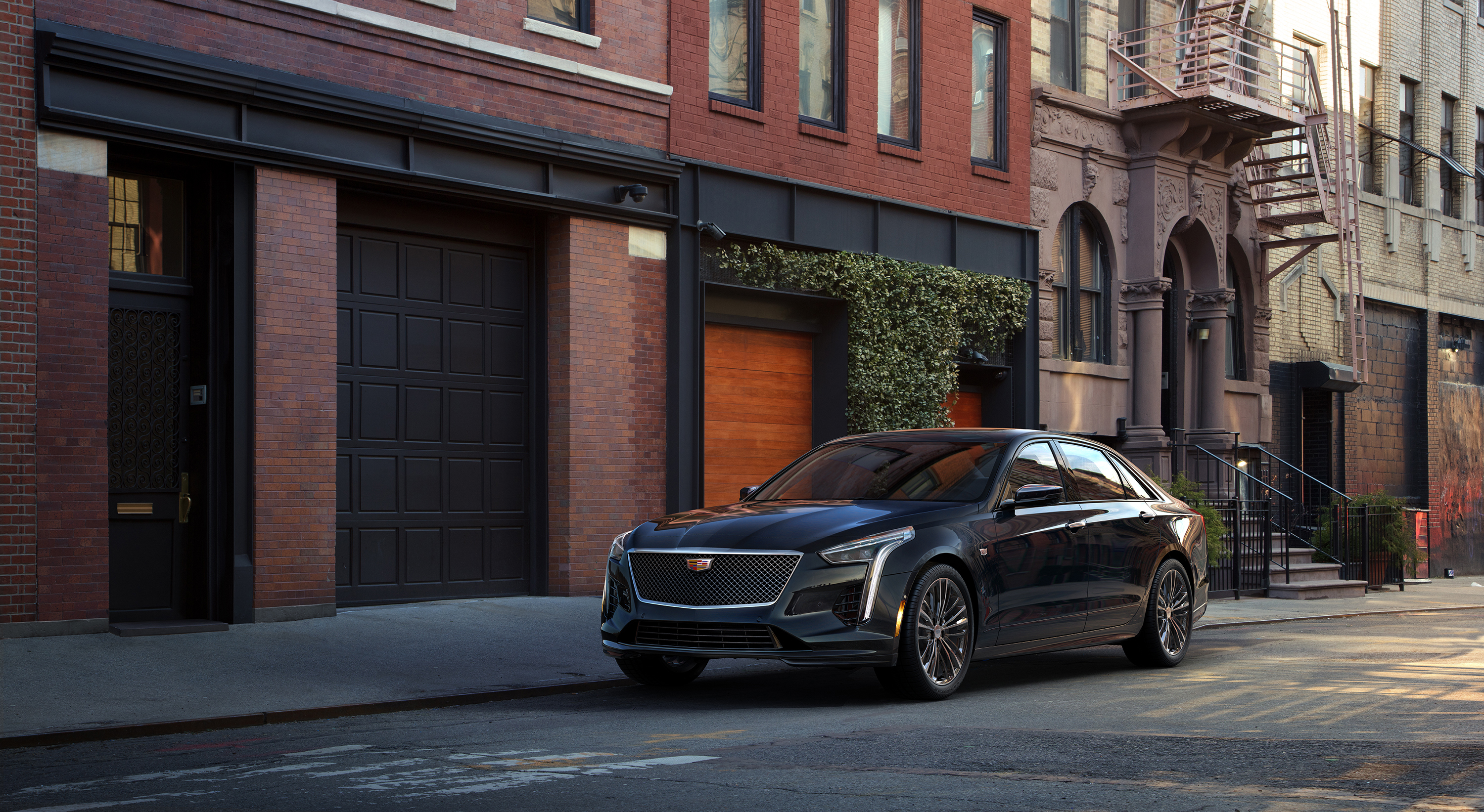 2019 Cadillac CT6 V-Sport front 3/4