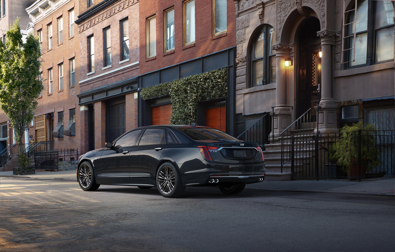 2019 Cadillac CT6 V-Sport rear 3/4