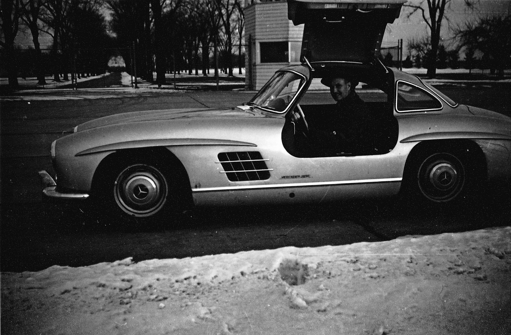 Henry Pringham in the 300 SL Gullwing