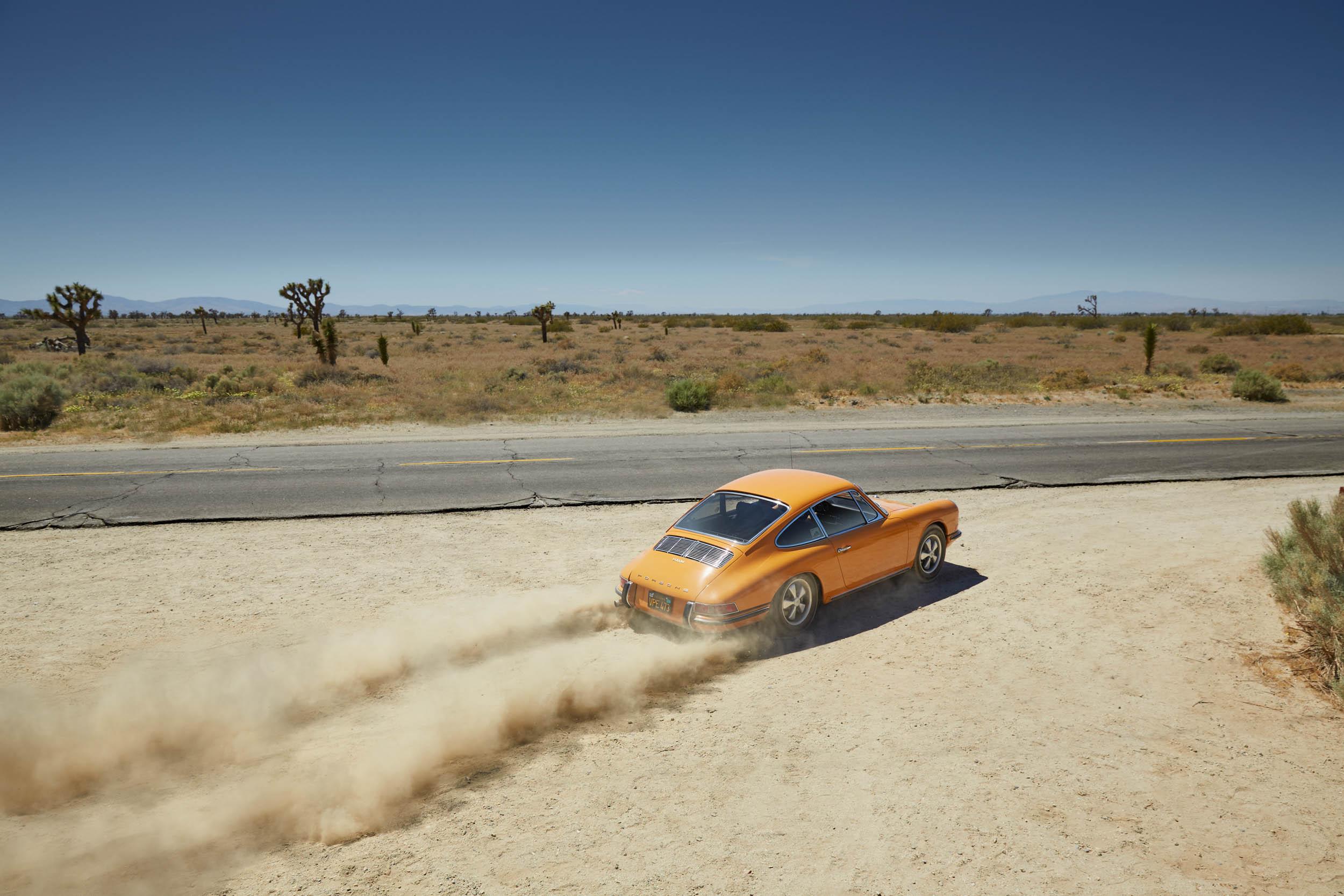 yellow 1967 Porsche 911
