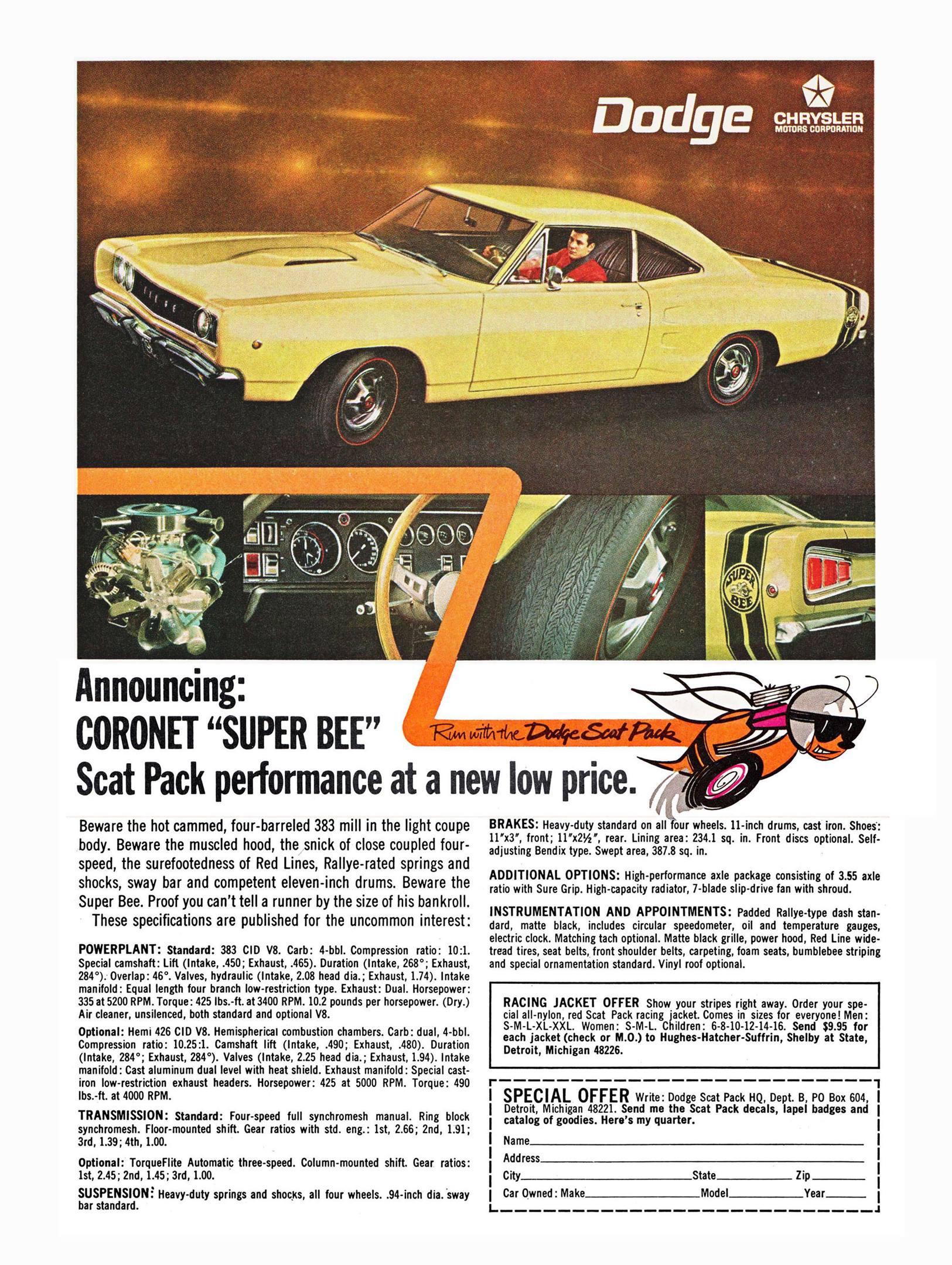 1968 Dodge Super Bee ad