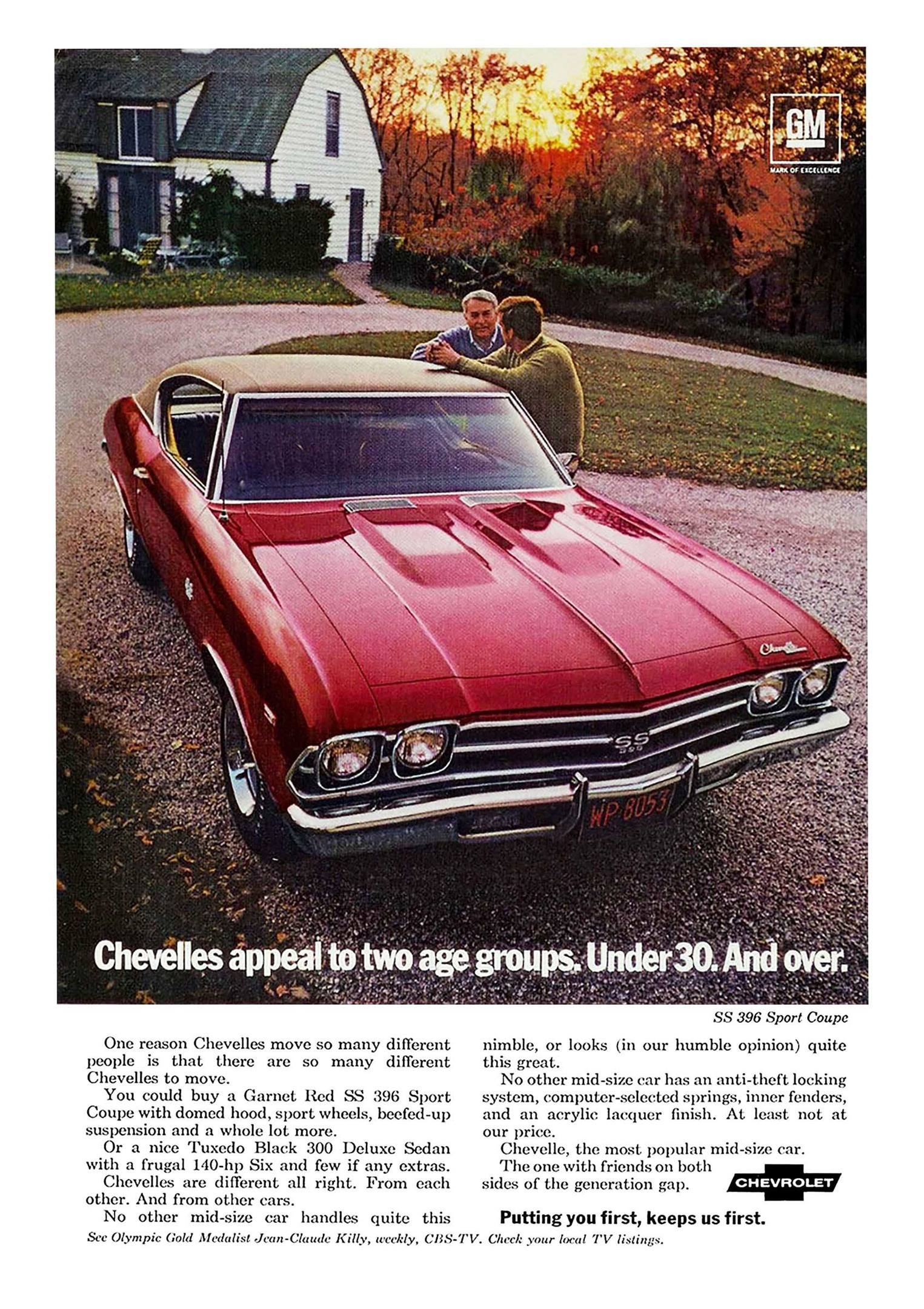 1969 Chevrolet Chevelle SS ad