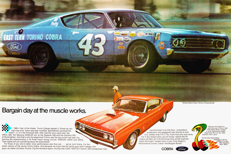 1969 Ford Torino GT Cobra Jet ad