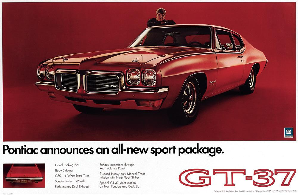 1970 Pontiac Tempest GT-37 ad