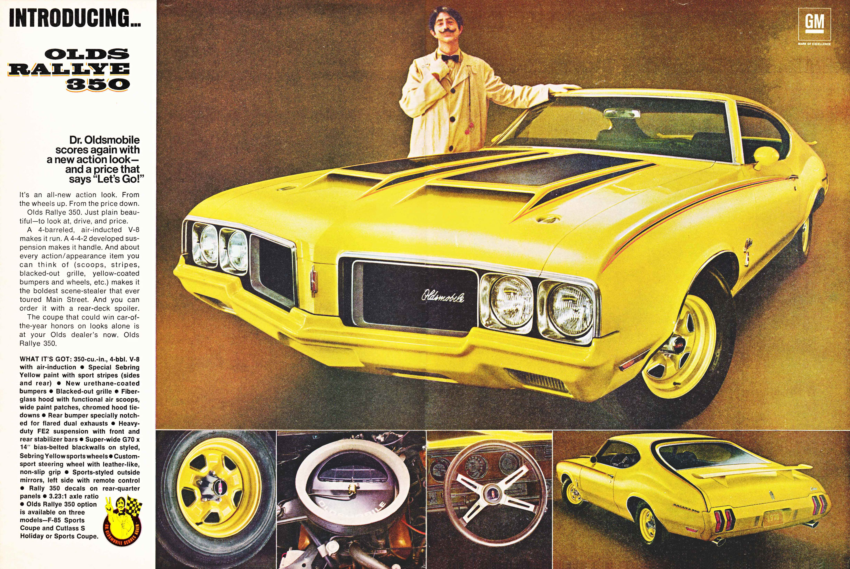 1970 Oldsmobile Rallye 350 ad