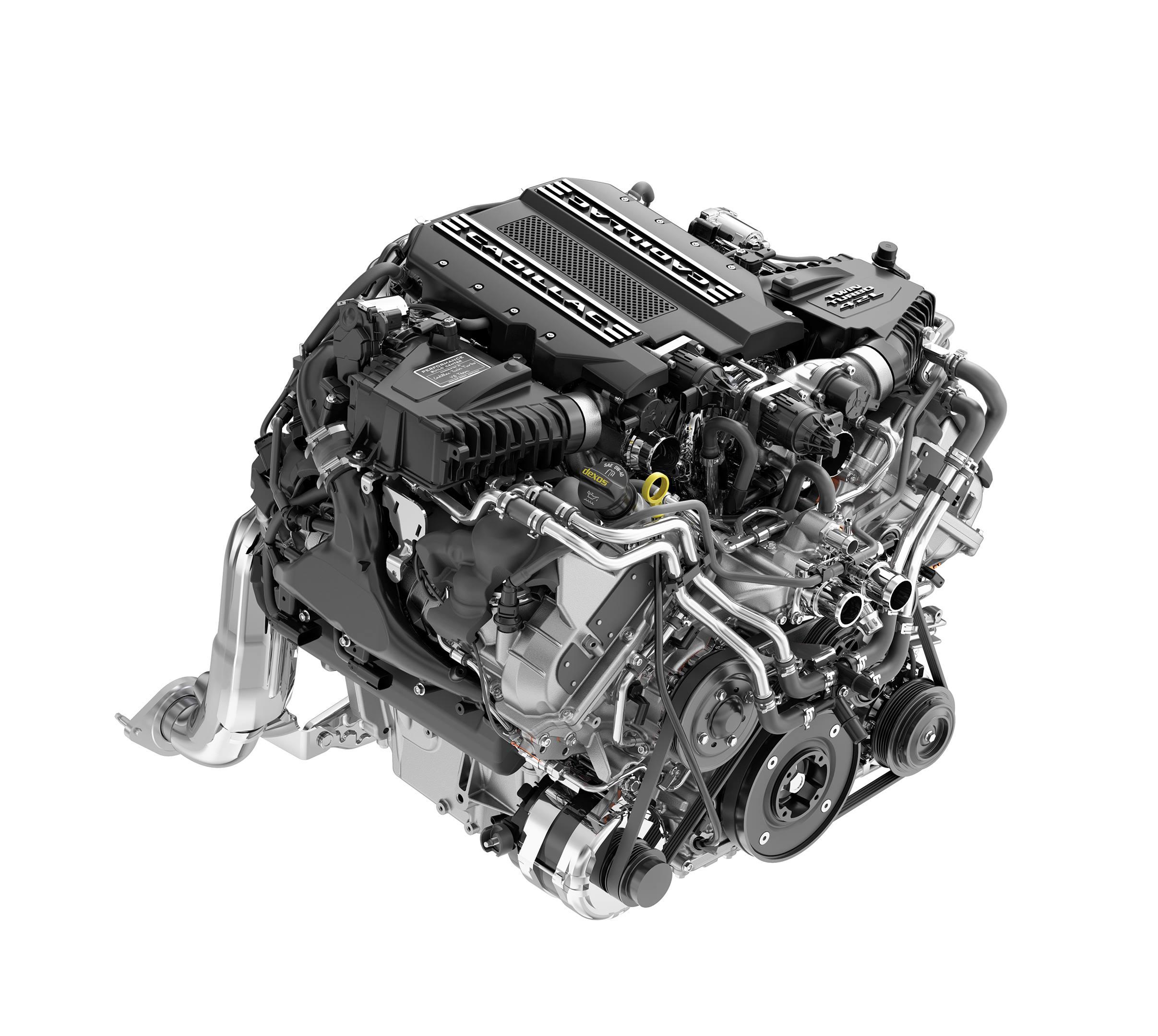 Cadillac twin-turbo V-8 engine