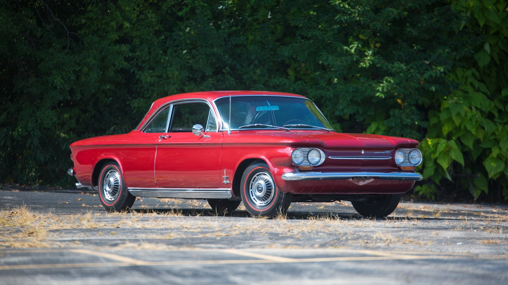 1963 Chevrolet Corvair front 3/4