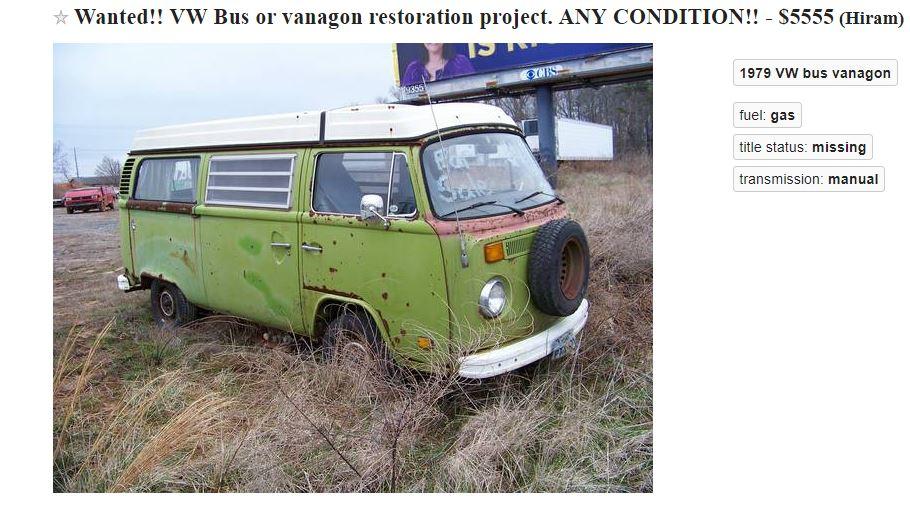 Craigslist VW Bus