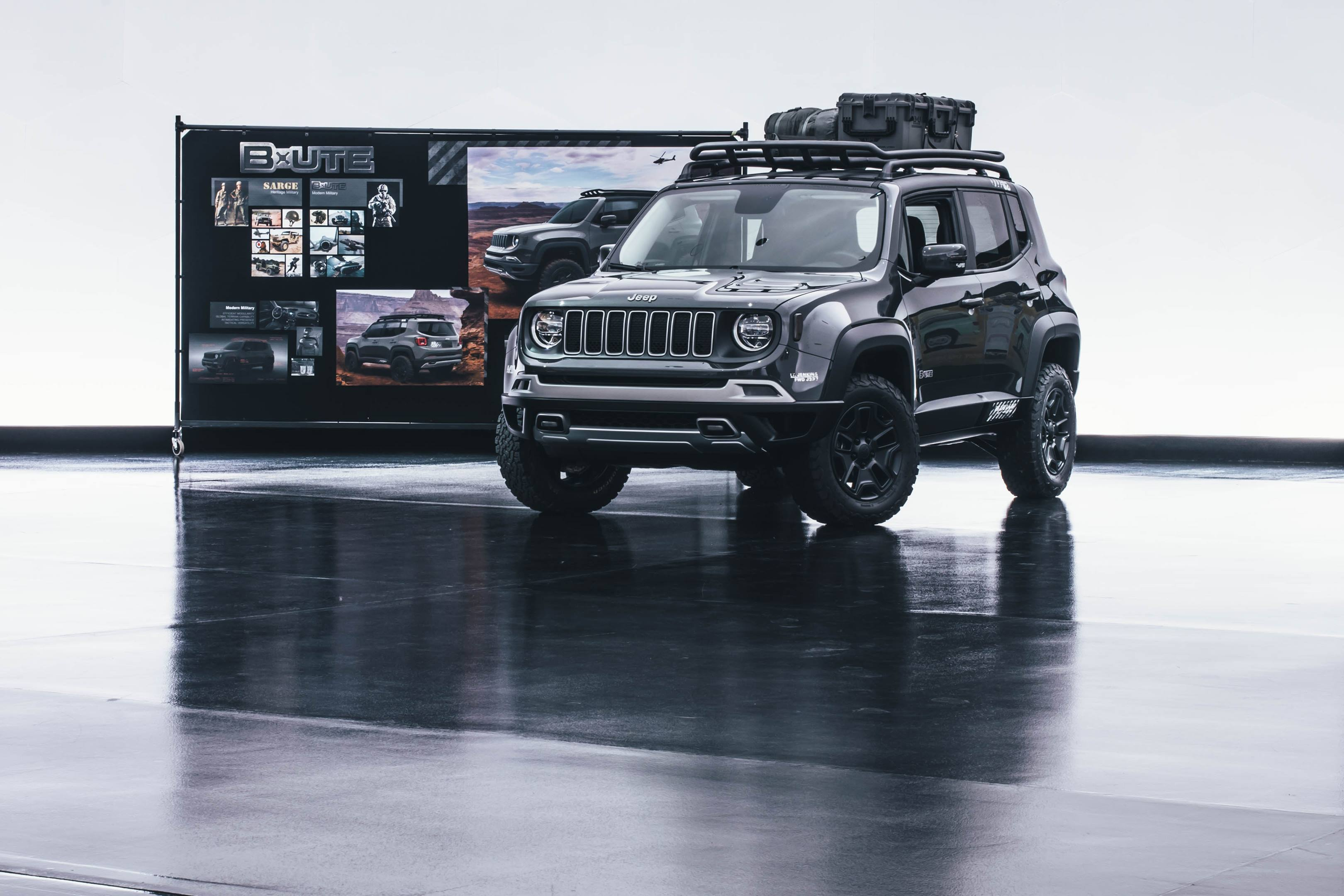 2018 Jeep B-Ute Concept front 3/4