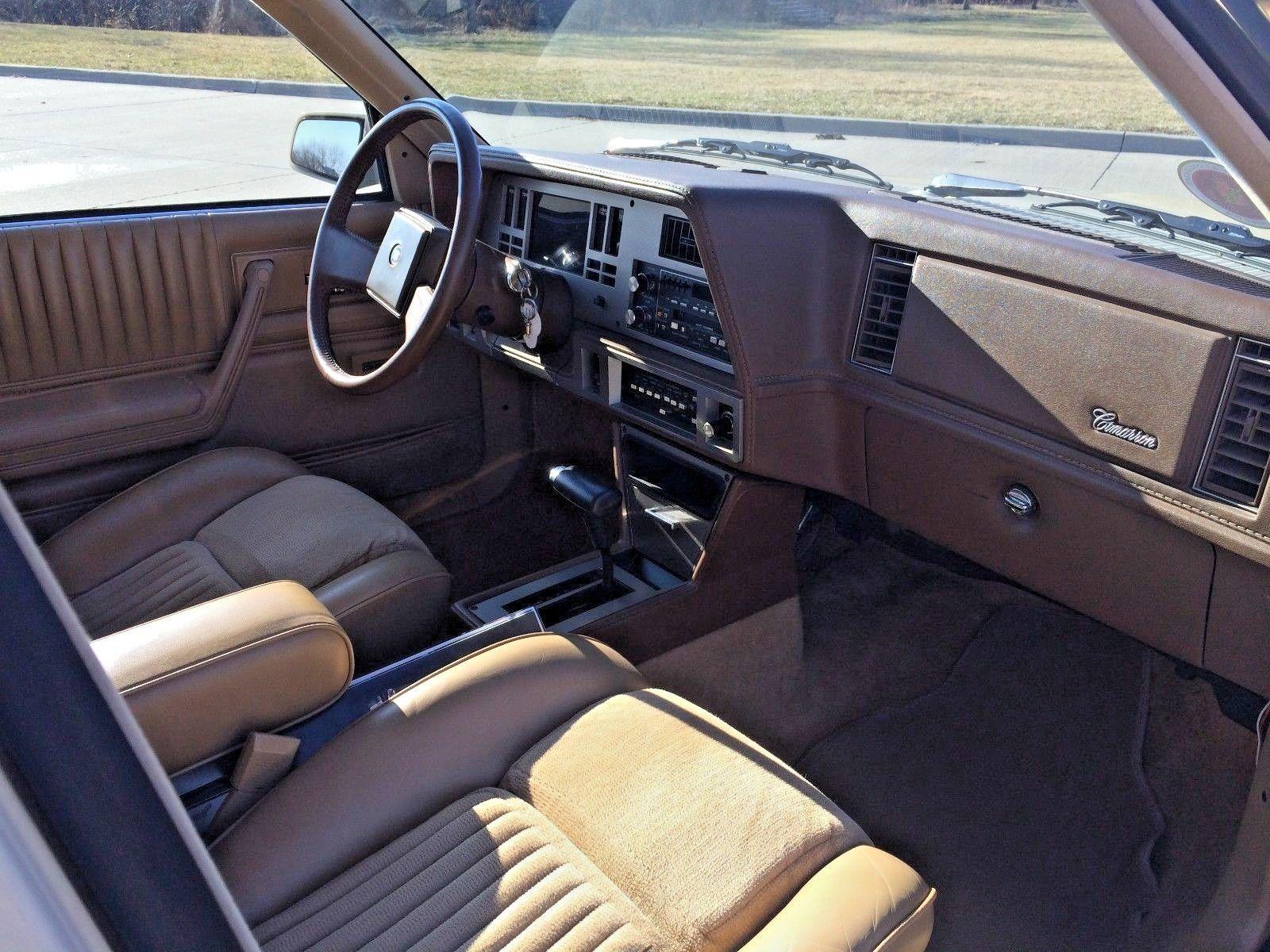 1985 Cadillac Cimarron front seat