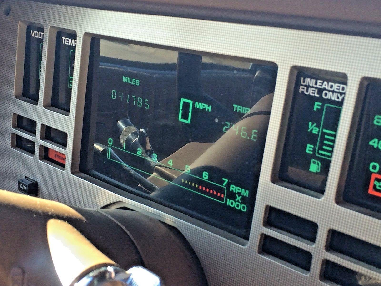 1985 Cadillac Cimarron instrument panel