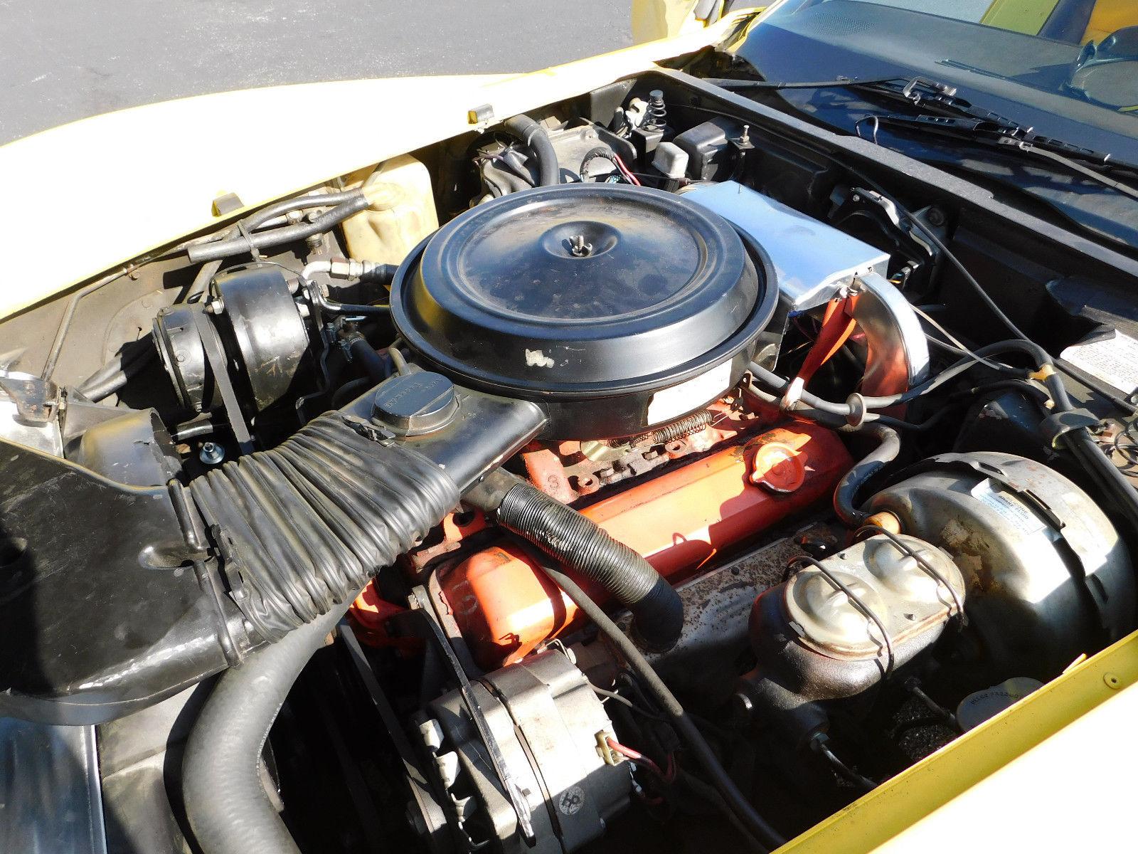 1977 Chevrolet Corvette engine